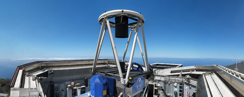 The Liverpool Telescope is a fully robotic 2.0 metre telescope owned and operated by the Astrophysics Research Institute. The LT is part of the Observatorio del Roque de los Muchachos and is sited on the summit of the island of La Palma in the Canary Islands.